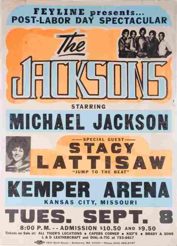 THE JACKSONS TRIUMPH TOUR CONCERT POSTER