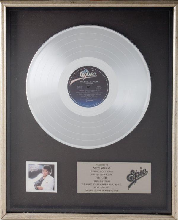 325: MICHAEL JACKSON RIAA RECORD AWARD