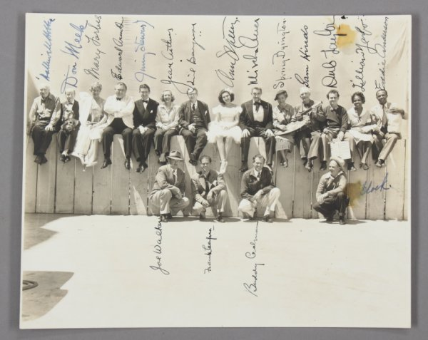 428: SIGNED CAST PHOTO FROM YOU CAN'T TAKE IT WITH YOU