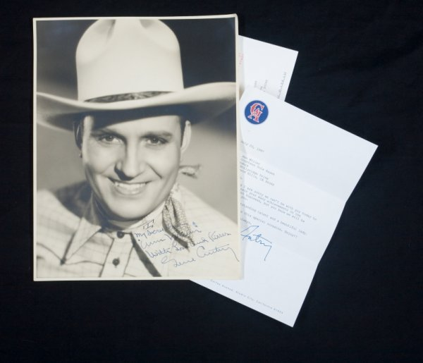 434: GENE AUTRY SIGNED PHOTOGRAPH AND LETTER