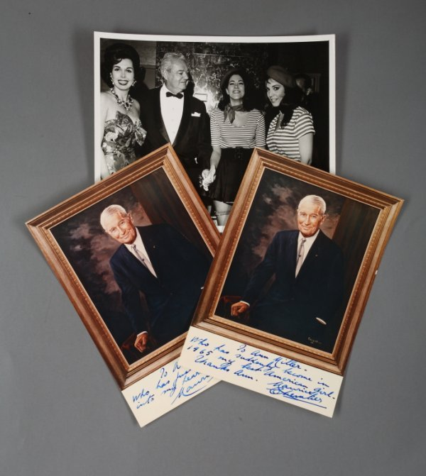 436: MAURICE CHEVALIER SIGNED NOTE & MILLER PHOTOGRAPH