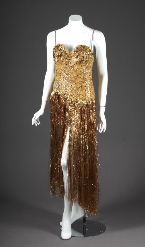 443: ANN MILLER GOLD COSTUME FROM 1941