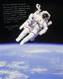 BRUCE McCANDLESS SIGNED SPACEWALK PHOTOGRAPH