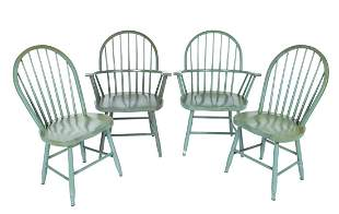 FOUR MODERN WINDSOR CHAIRS