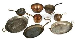ASSORTED COPPER COOKWARE