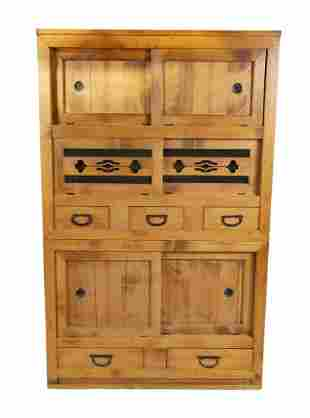 KOREAN TWO PIECE SOFTWOOD TANSU