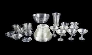 ANCHOR HOCKING MANHATTAN WARE GLASS DISH SET