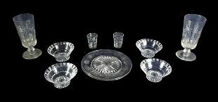 GROUP OF WILLIAM YEOWARD AND OTHER CUT GLASS