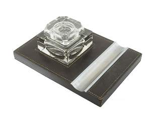 HERMES INKWELL STAND WITH PEN HOLDER