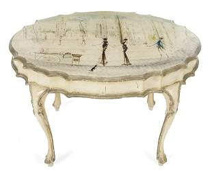 VINTAGE HAND PAINTED COFFEE TABLE