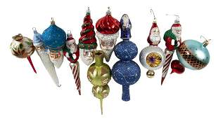 GROUP OF ICICLE CHRISTMAS ORNAMENTS