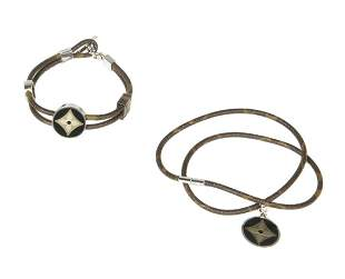 LOUIS VUITTON FASHION JEWELRY NECKLACE AND BRACELET