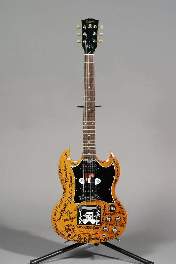 1023: DICK DALE DESIGNED ENGRAVED GIBSON SG GUITAR