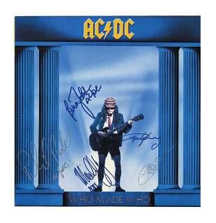 AC/DC In-Person Signed Album