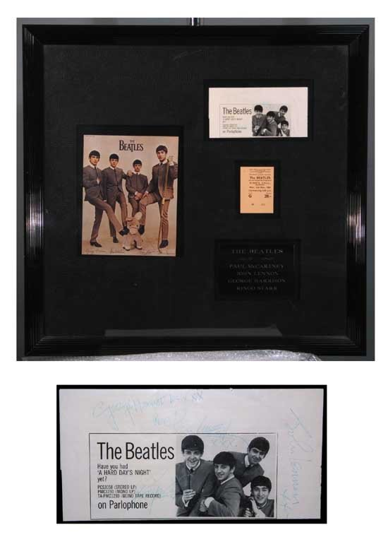 The Beatles Vintage Ink Signatures