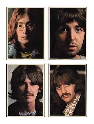 Set of Four 8 x 10 Color Beatles Photos