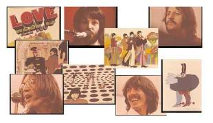 Thirteen Original Beatles Transparencies