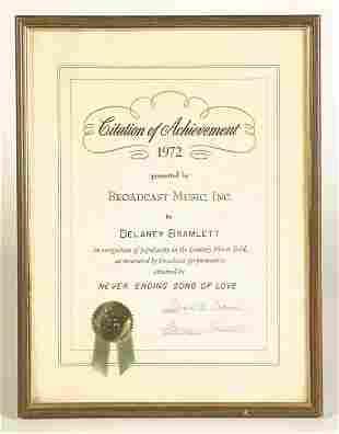 Delaney Bramlett 1971 Achievement Award