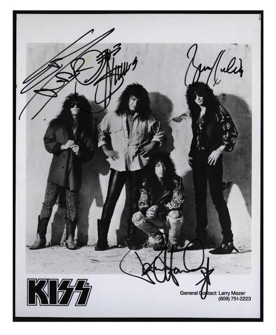 KISS Signed 8 x 10 Publicity Photo
