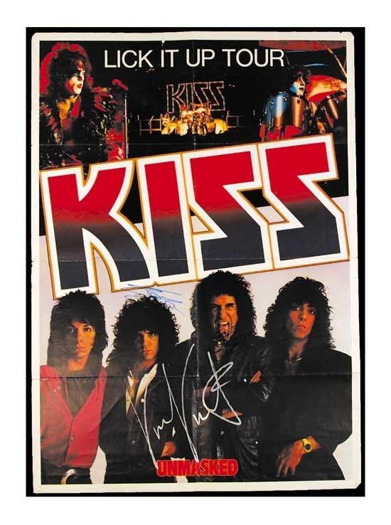 KISS Signed 1983-84 European Concert Poster