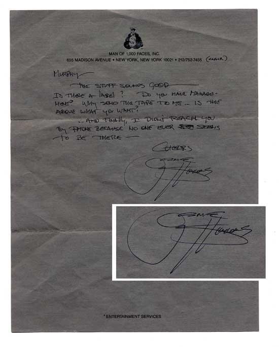 KISS Gene Simmons Handwritten Signed Letter
