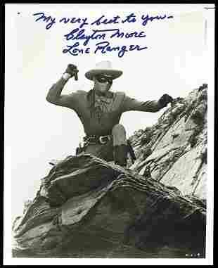 Clayton Moore Lone Ranger Signed Photo