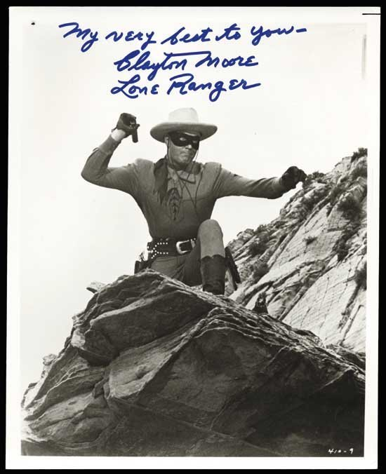 Clayton Moore Lone Ranger Signed Photo