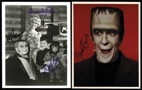 The Munsters Signed Photo Lot