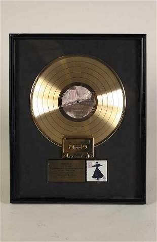 Stevie Nicks Framed Gold Record Award