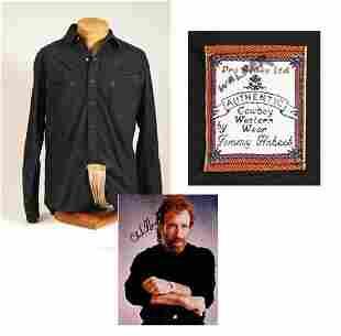 Chuck Norris Black Shirt Walker Texas Ranger