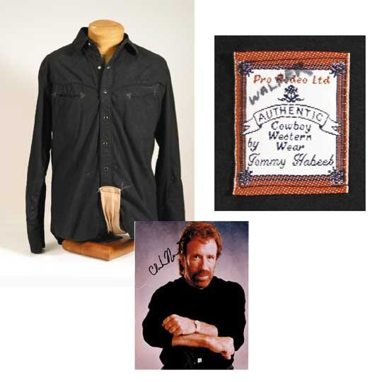 Chuck Norris Black Shirt Walker Texas Ranger