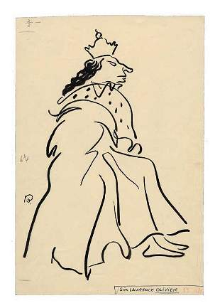 Sir Laurence Olivier Oscar Berger Sketch