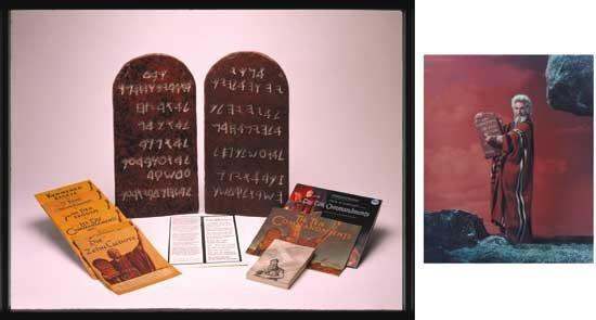 Ten Commandments Original Film Tablets