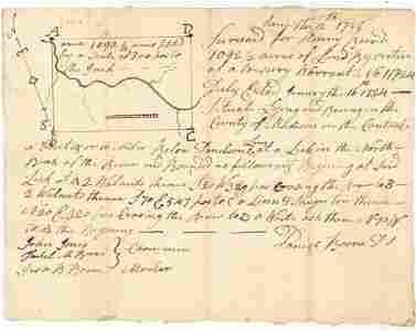 Daniel Boone Handwritten Signed Land Document