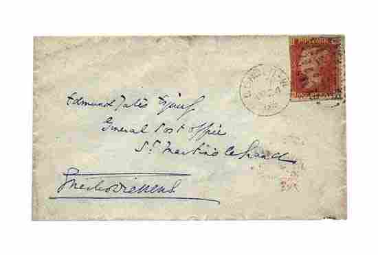 Charles Dickens Signed Envelope Panel
