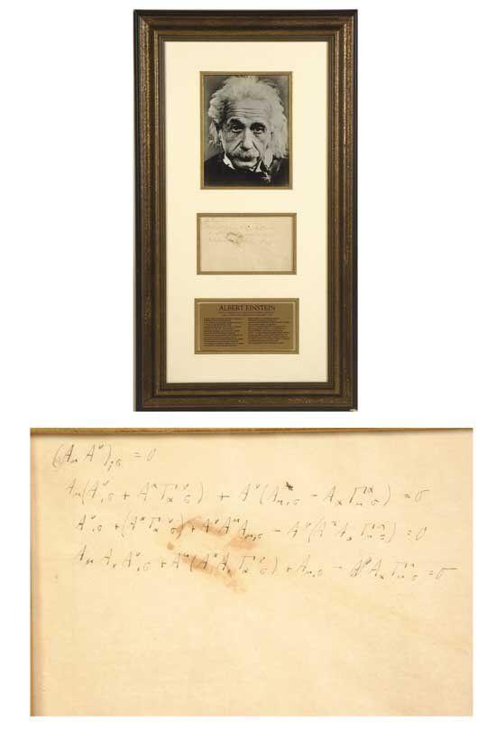 Albert Einstein Handwrit Theory of Relativity