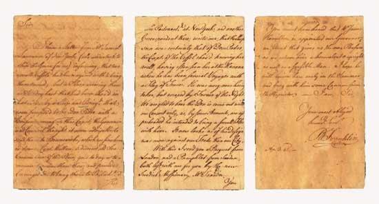 Benjamin Franklin Handwritten Letter Signed