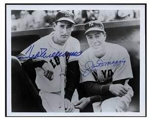 Ted Williams & Joe DiMaggio Signed Photo PSA