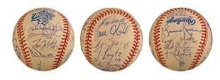 1999 New York Yankees Team Signed Ball PSA