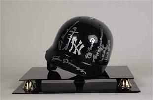 Yankee Legends Signed Helmet w/ Dimaggio PSA