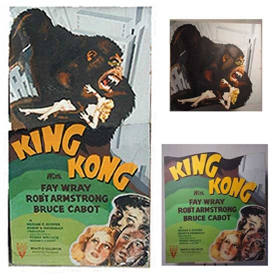 King Kong 1930's Large Theater Standee