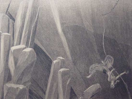 Thief of Baghdad Ice Cave Concept Art, 1924