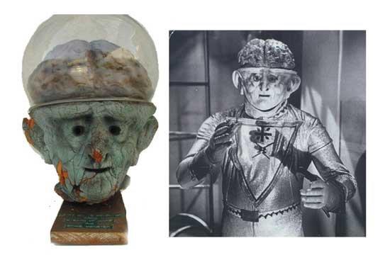 Space Monster Prop Martian Mask 1965