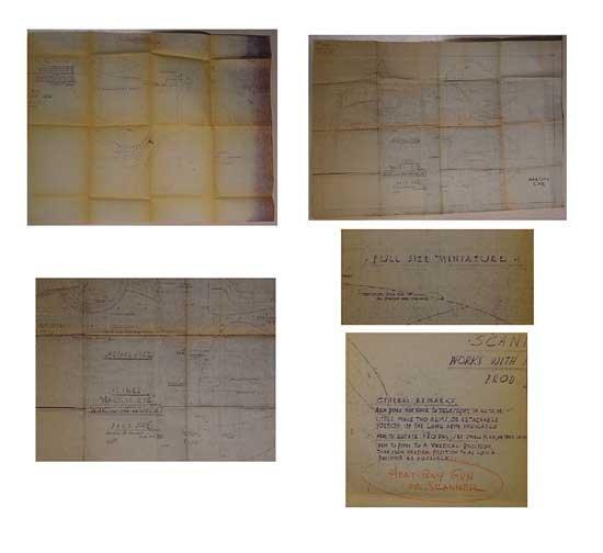 War of the Worlds Original Blueprints 1953