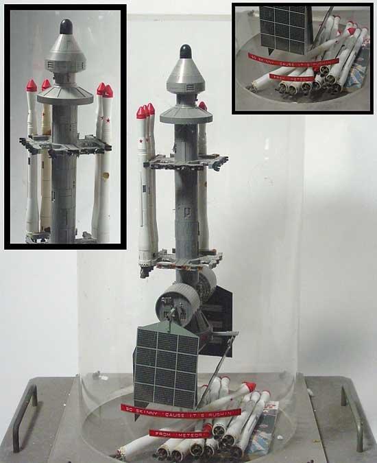 Meteor (1979) Vertical Space Ship Miniature