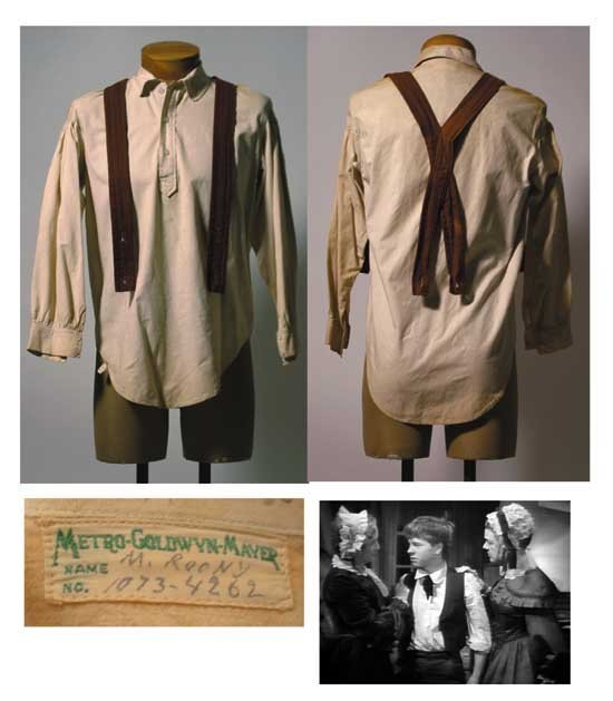 Mickey Rooney Outfit Worn in Huckleberry Finn