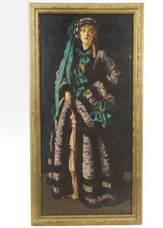 Mary Pickford Oil Painting Pickfair Estate 2
