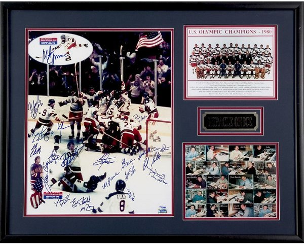 4: 1980 U.S. Hockey Team Signed Lithograph