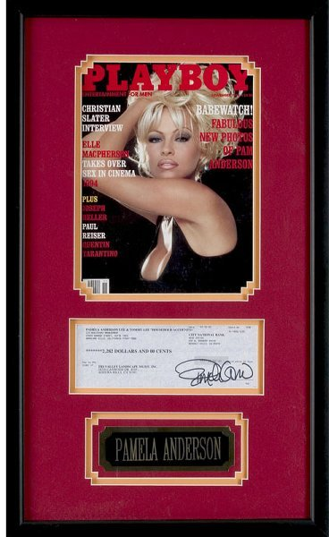 5: Pamela Anderson Lee Signed Check Display