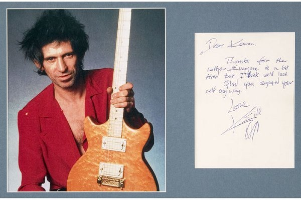 2: Keith Richards Signed Letter Display